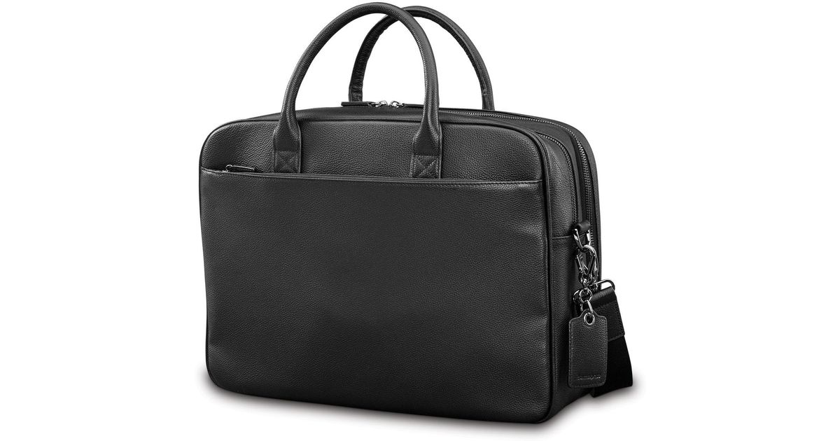 Lyst - Samsonite Mens Leather Classic Flap Briefcase in Black for Men -  Save 4% b5286f7a6be4f