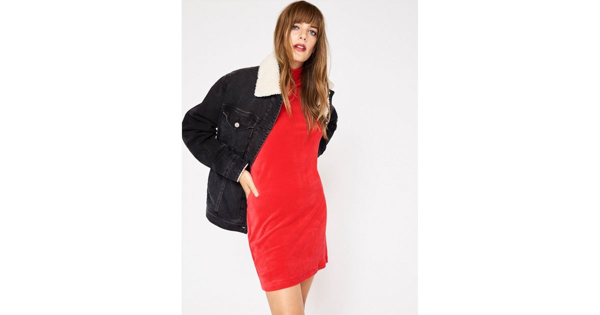 Lyst - Sanctuary Clothing Statement Sherpa Denim Jacket in Black 7660a4fdb
