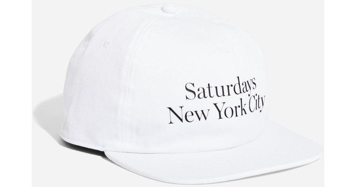 031d1652a1224 Saturdays NYC Stanley Washed Miller Hat in White for Men - Lyst
