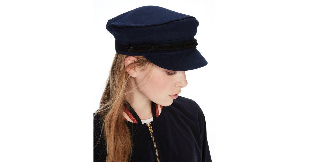 Lyst - Scotch   Soda Cotton Baker Boy Cap in Blue 65a46b3018f