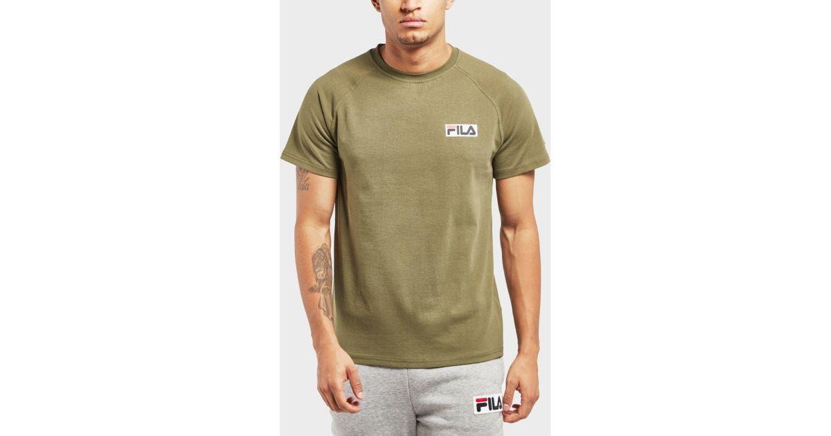 b6bc455b Lyst - Fila Overhaul Short Sleeve T-shirt in Green for Men