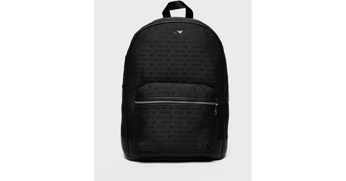 eb4aea55d94e Armani Jeans Nylon Backpack in Black for Men - Lyst