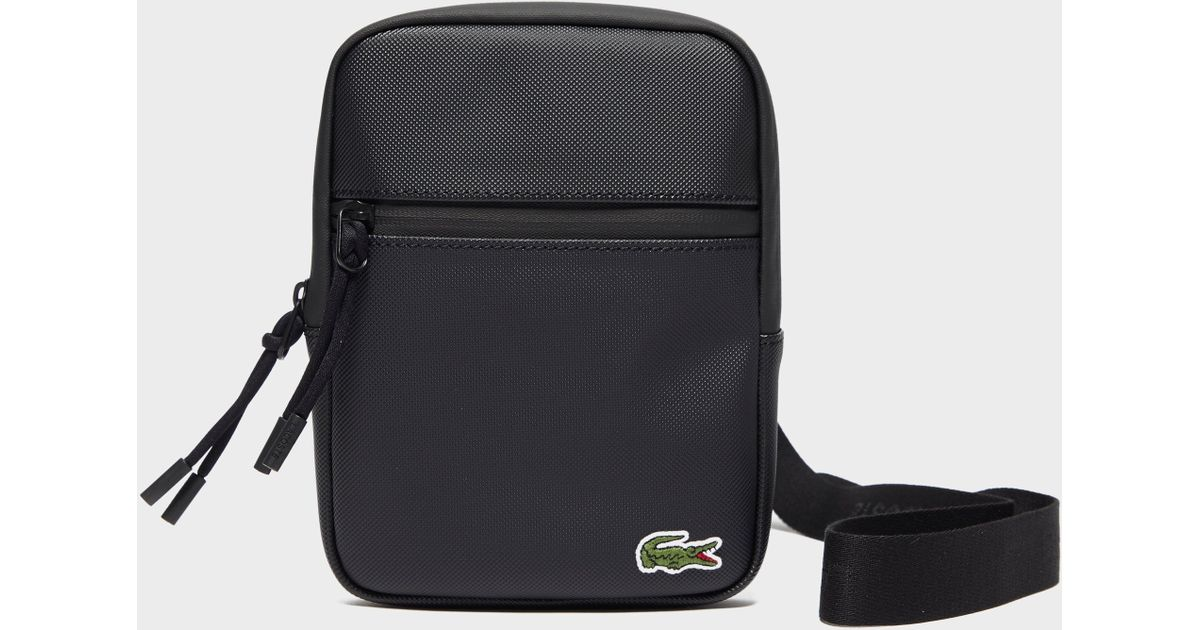 42ca918d49008a Lacoste Tape Small Item Bag in Black for Men - Lyst