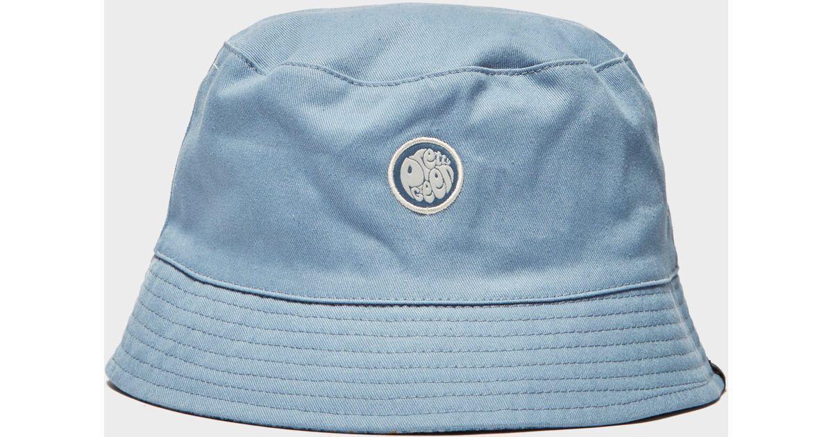 c47cc2fecf4 Pretty Green Paisley Reversible Bucket Hat in Blue for Men - Lyst