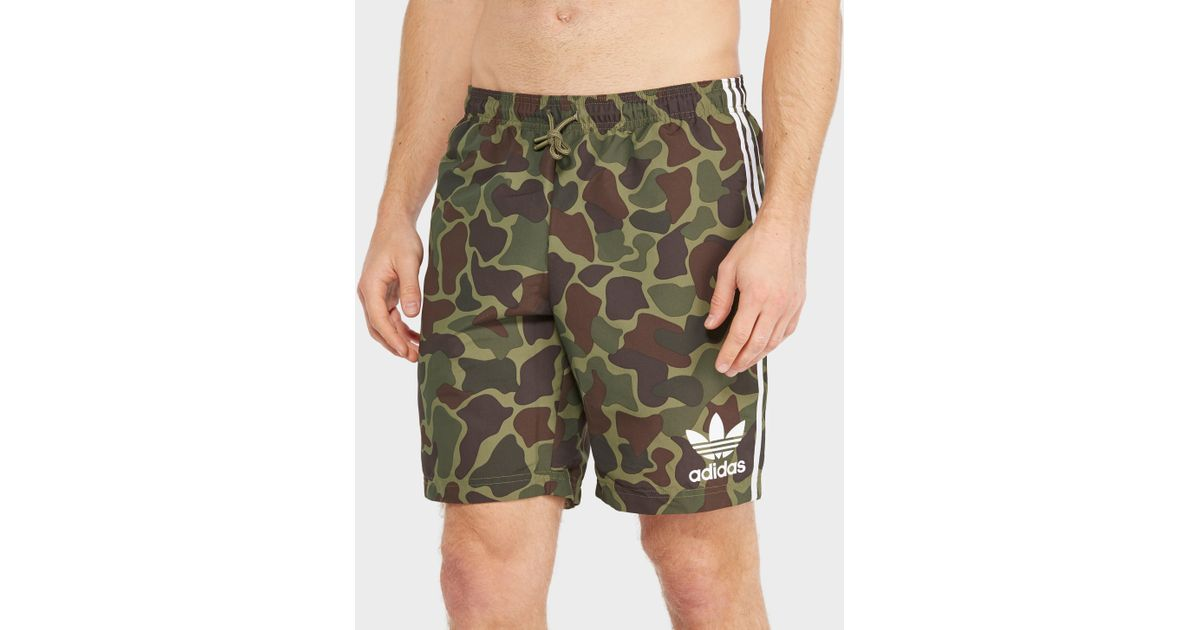 Trefoil Woven In For Green Men Originals Shorts Adidas Lyst wt4E77