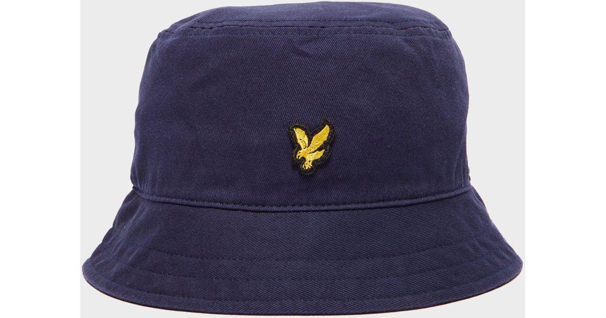 b5e0fb05b469d Lyle   Scott Eagle Bucket Hat in Blue for Men - Lyst