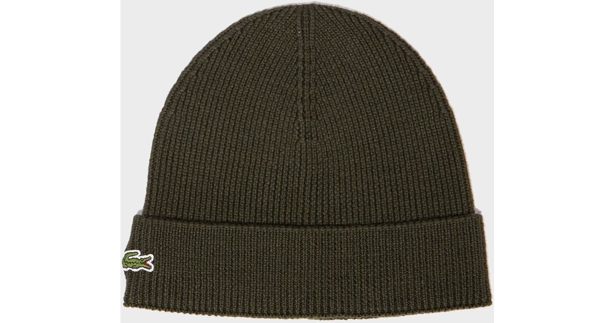 88c2fb79a00 Lyst - Lacoste Knitted Hat in Black for Men