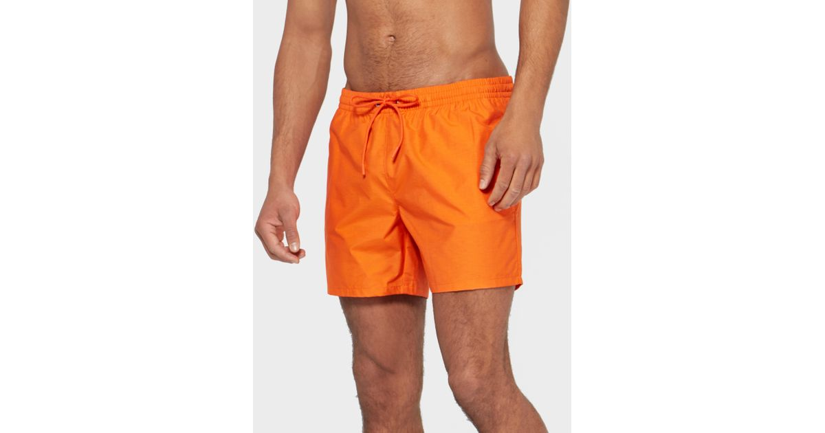 e82aafa1a4617 Lacoste Swim Shorts in Orange for Men - Lyst