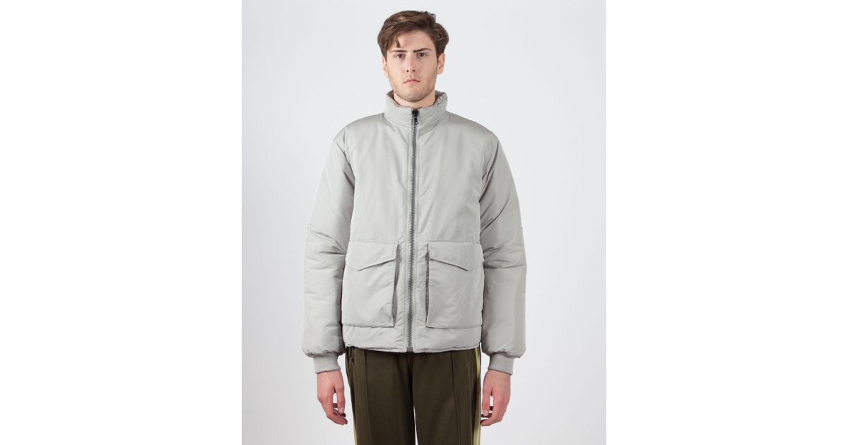 Our Legacy Puffed Funnel Jacket Quot Silver Bullet Quot In Gray