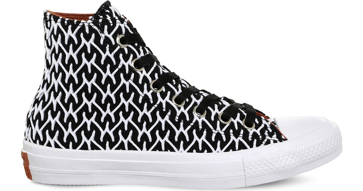 fc09f2c3b503 Lyst - Converse Chuck Ii Patterned Woven Trainers in Black for Men
