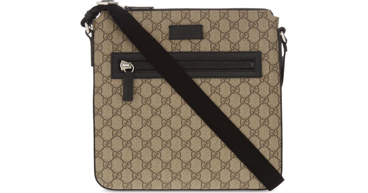 46a7cb514107 Lyst - Gucci Gg Supreme Flight Bag for Men