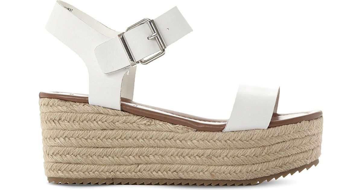 7f0c04e35803 Lyst - Steve Madden Surfa Espadrilles Leather Platform Sandals in Brown
