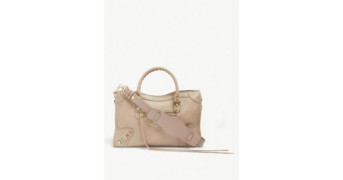 9502f268eeb29 Balenciaga Classic Metallic Edge City Grained Leather Tote Bag in Metallic  - Lyst