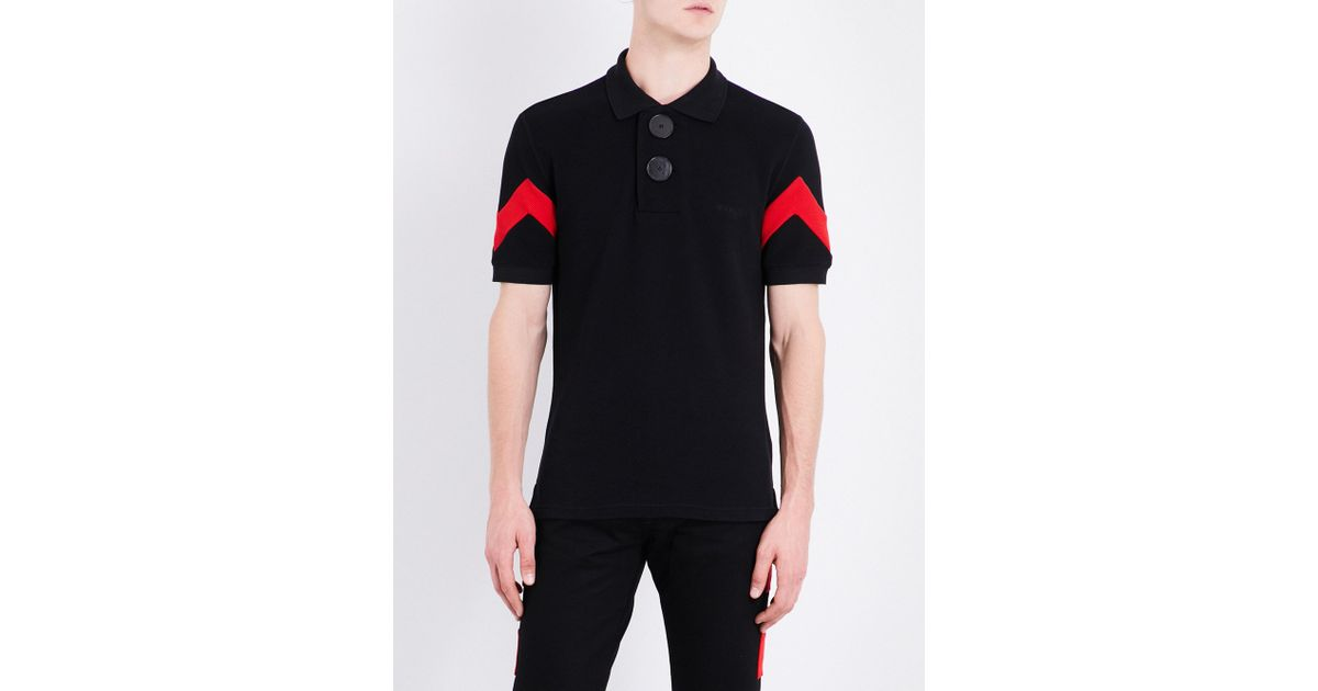 a2442546d6dc Lyst - Givenchy Oversized Button-detailed Cotton-piqué Polo Shirt in Black  for Men