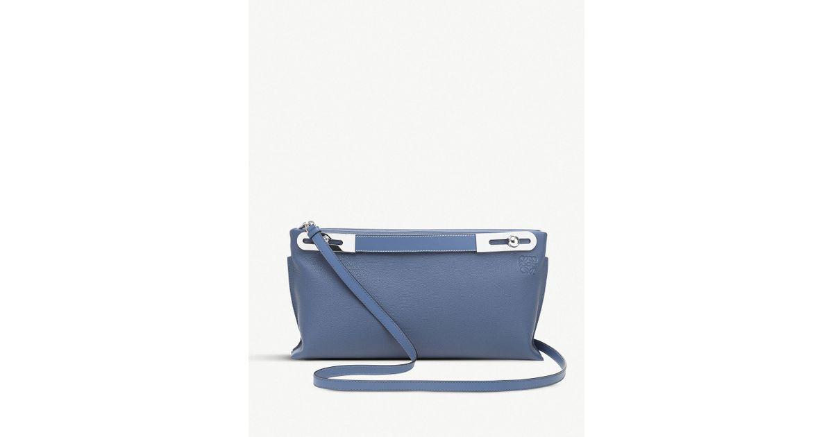 67d3e5e9471 Lyst - Loewe Ladies Varsity Blue Missy Leather Bag in Blue