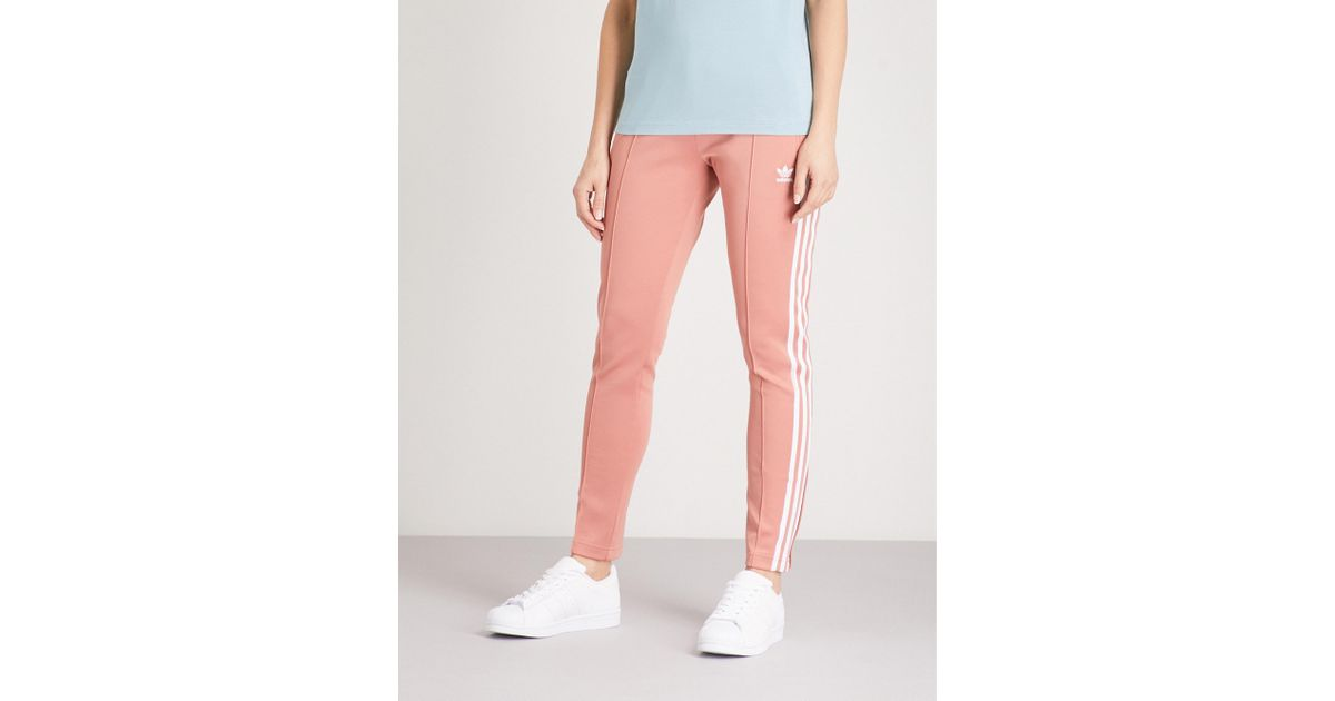 20e88f50c528fc adidas Originals Sst Stretch-jersey Jogging Bottoms in Pink - Lyst