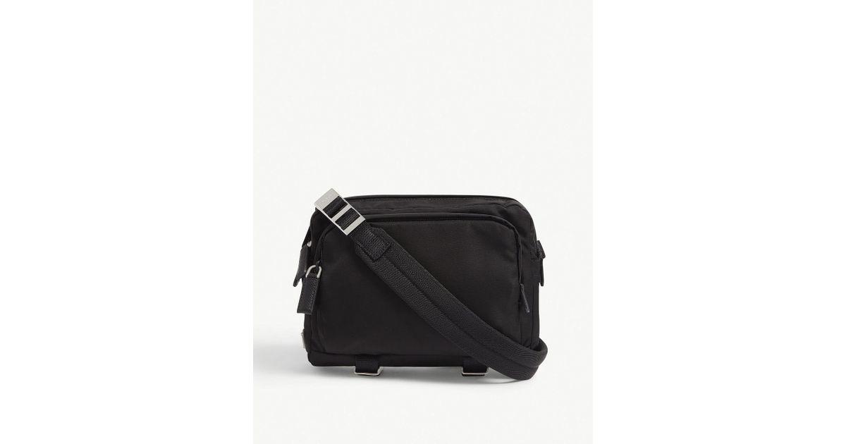 2a975243a859 Prada Tessuto Montagna Nylon Camera Bag in Black for Men - Lyst