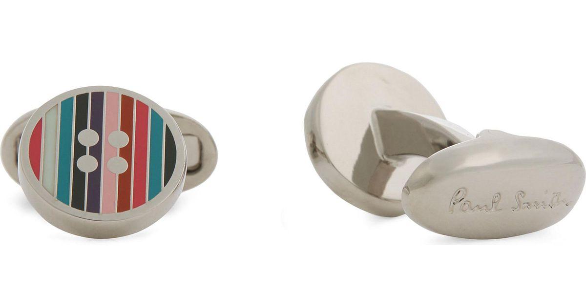 Paul Smith Striped insert cufflinks ZOdWubL