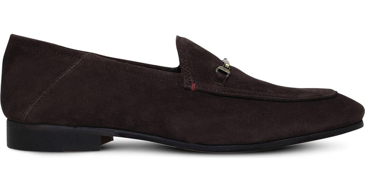 d7a7b140082 Kg By Kurt Geiger Max Suede Loafers in Brown - Lyst