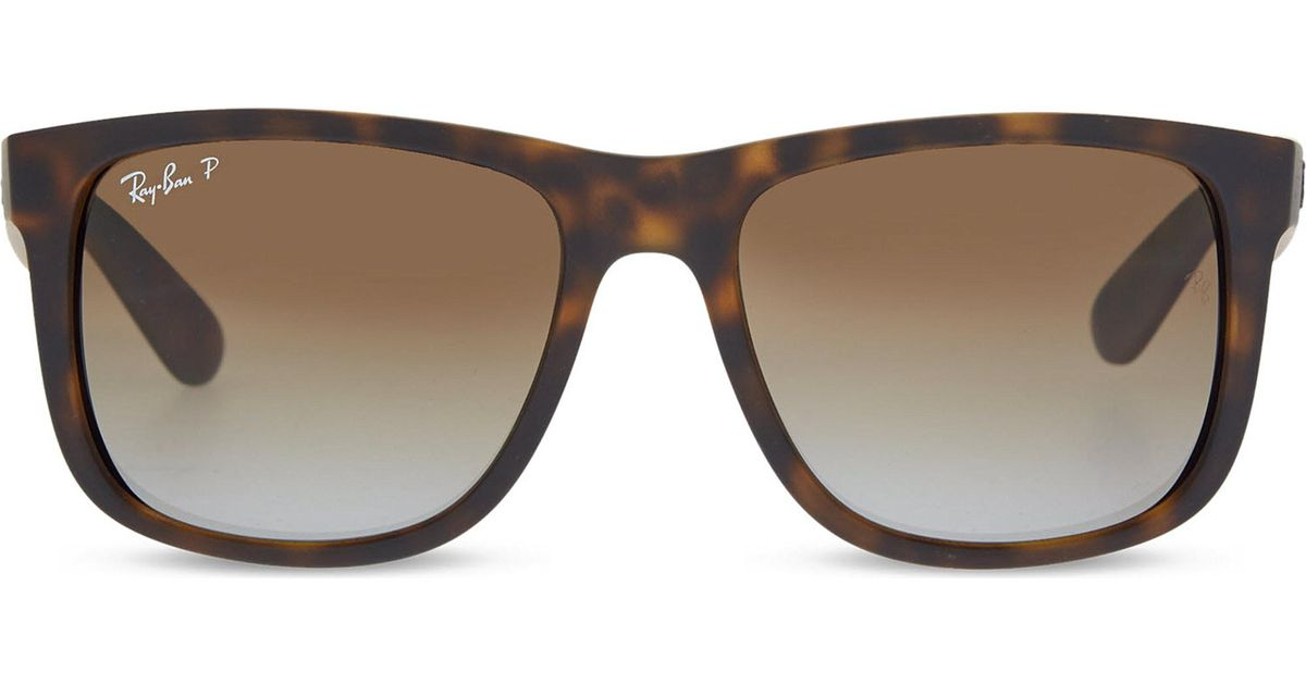 28d9c2d24 Lyst - Ray-Ban Rb4165 Tortoise Shell Rectangle Sunglasses in Black - Save 9%