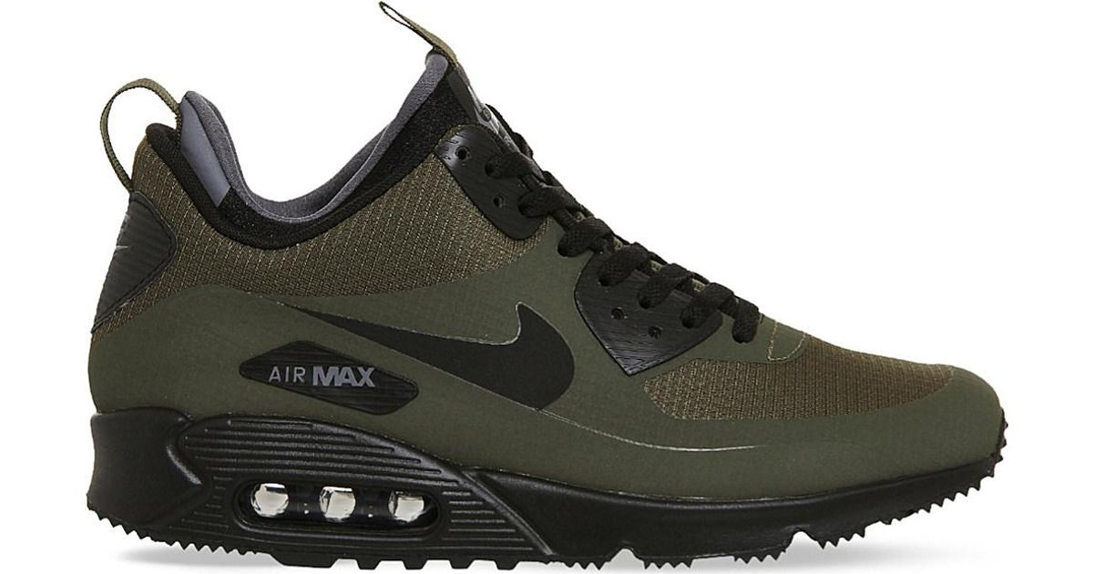 ba4ebab96d1 ... sneakers 78fee ad36d  order lyst nike air max 90 mid winter mesh  trainers in black for men 0a3c0 ce5ef