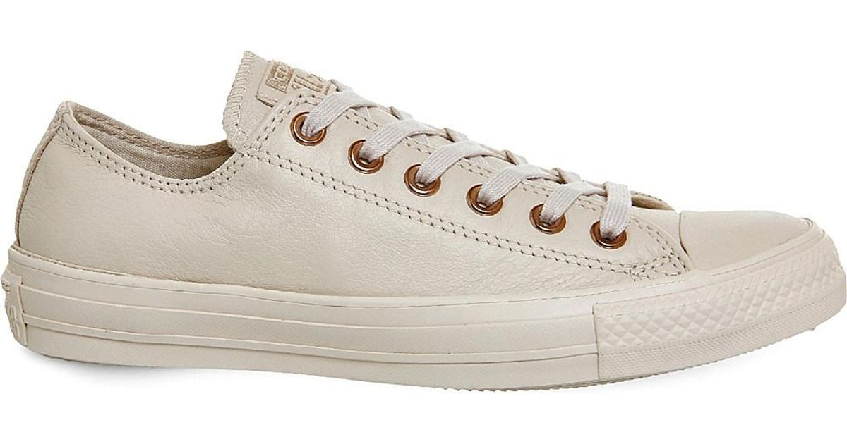 09ddddee3980 Lyst - Converse Chuck Taylor All Star Low-top Leather Trainers