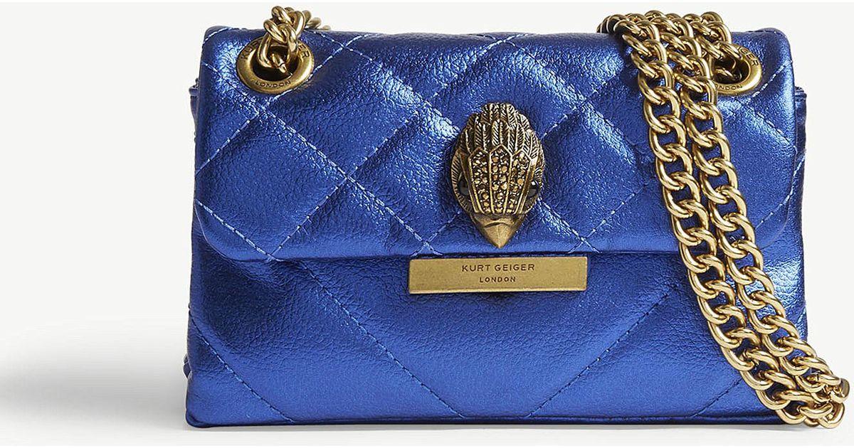 f5be4417918c Lyst - Kurt Geiger Mini Kensington Leather Shoulder Bag in Blue