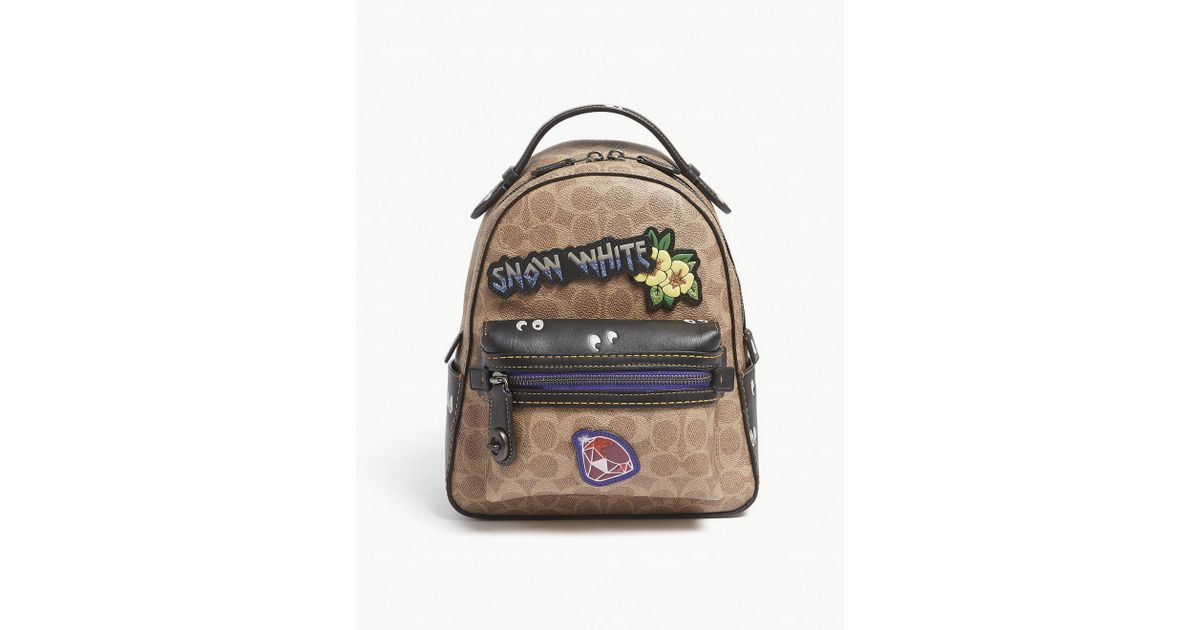 3149892d0b4 Lyst - COACH Dark Disney Snow White Leather Campus Backpack in Brown