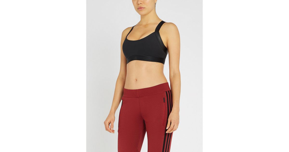 0787e75816 Lyst - adidas Originals All Me Warrior Moulded Stretch-jersey Sports Bra in  Black