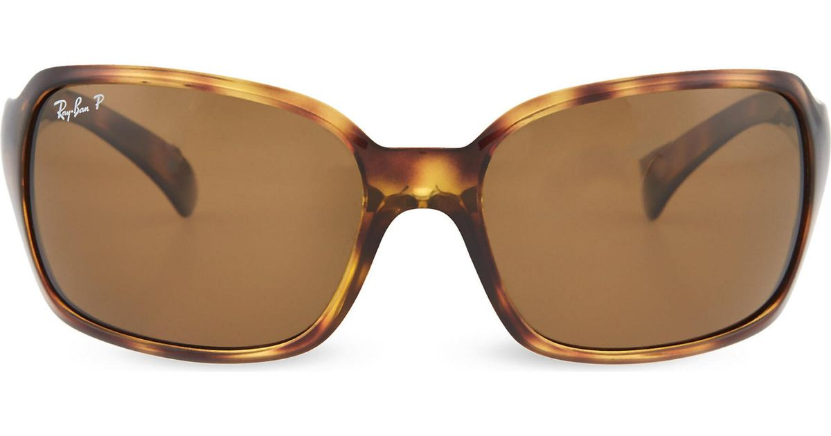 61edf72ed5143 Lyst - Ray-Ban Havana Square Sunglasses In Tortoiseshell With Brown Tinted  Lenses Rb4068 61 in Brown