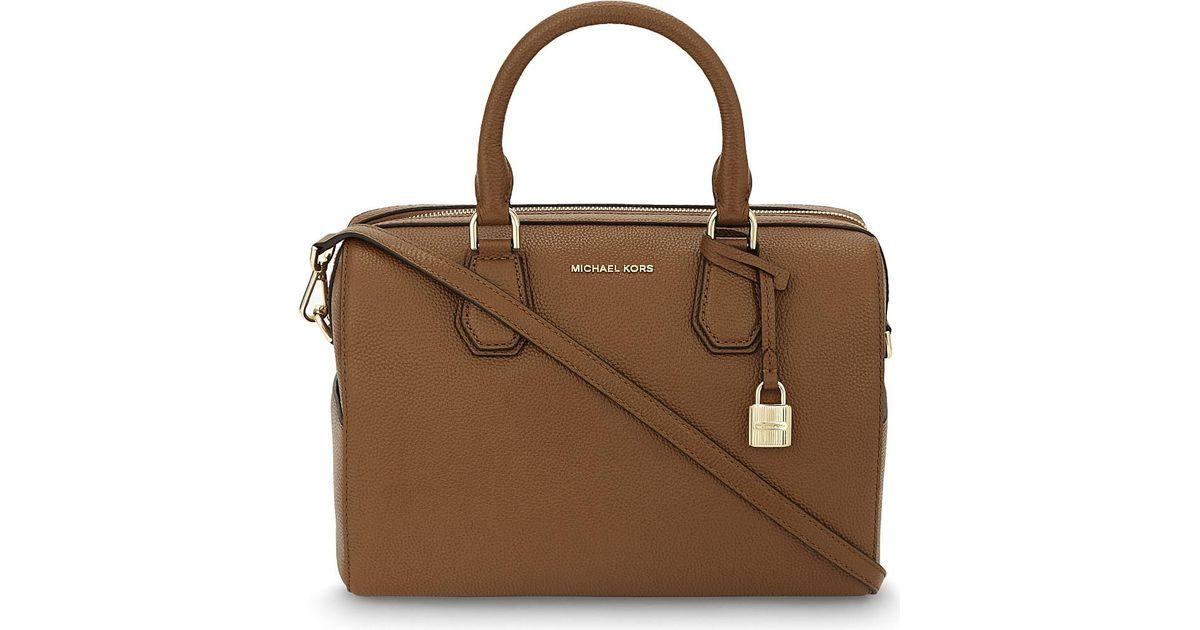 4dc561b83faf MICHAEL Michael Kors Mercer Medium Leather Duffle Bag in Brown - Lyst
