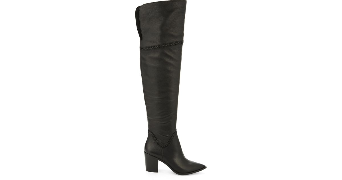 5cc038aebac Lyst - ALDO Olena Leather Over-the-knee Boots in Black