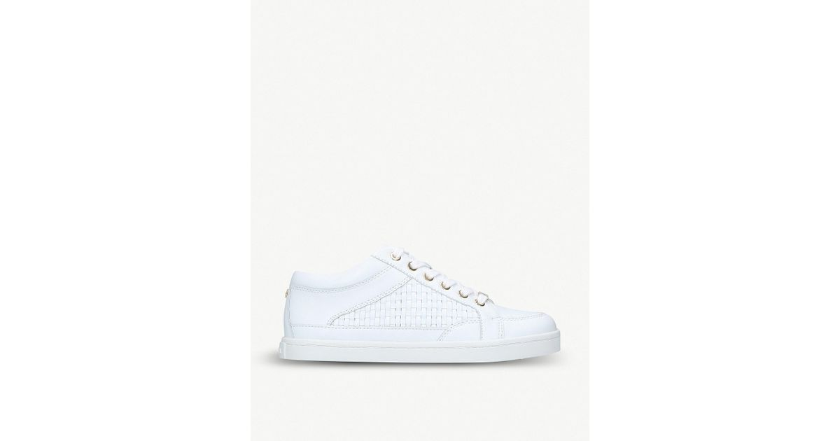 available fantastic savings wholesale outlet Carvela Kurt Geiger White Legacy Woven Leather Trainers