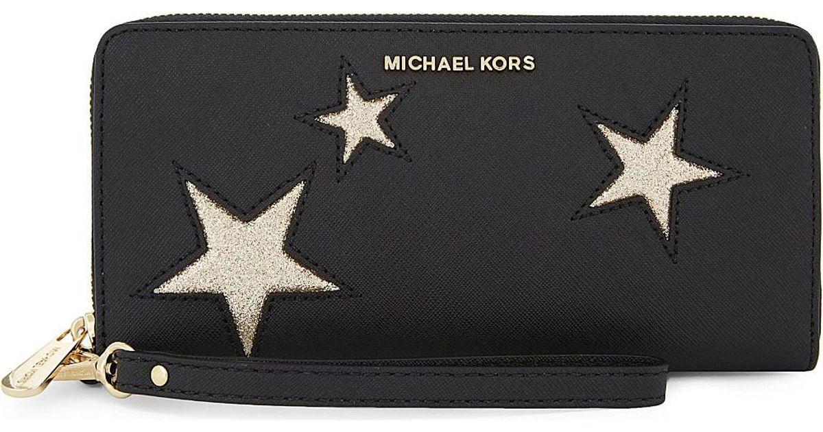 85a280653d09 Lyst - MICHAEL Michael Kors Peek-a-boo Leather Continental Wallet in Black
