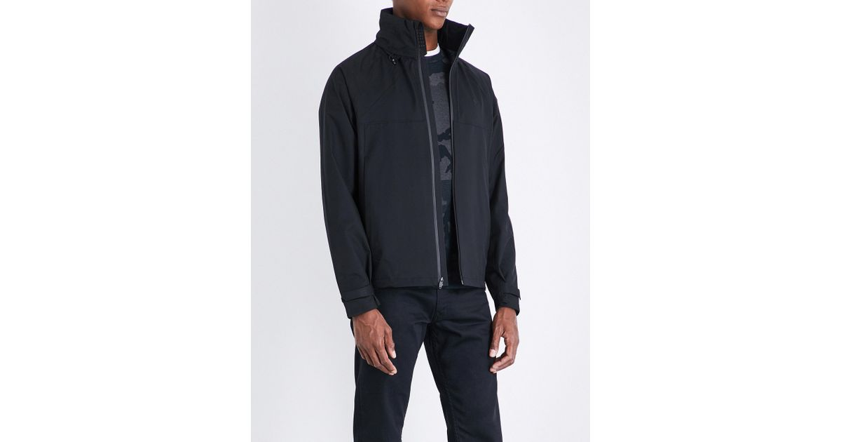0988a1a8e Polo Ralph Lauren Repel Hooded Shell Jacket in Black for Men - Lyst