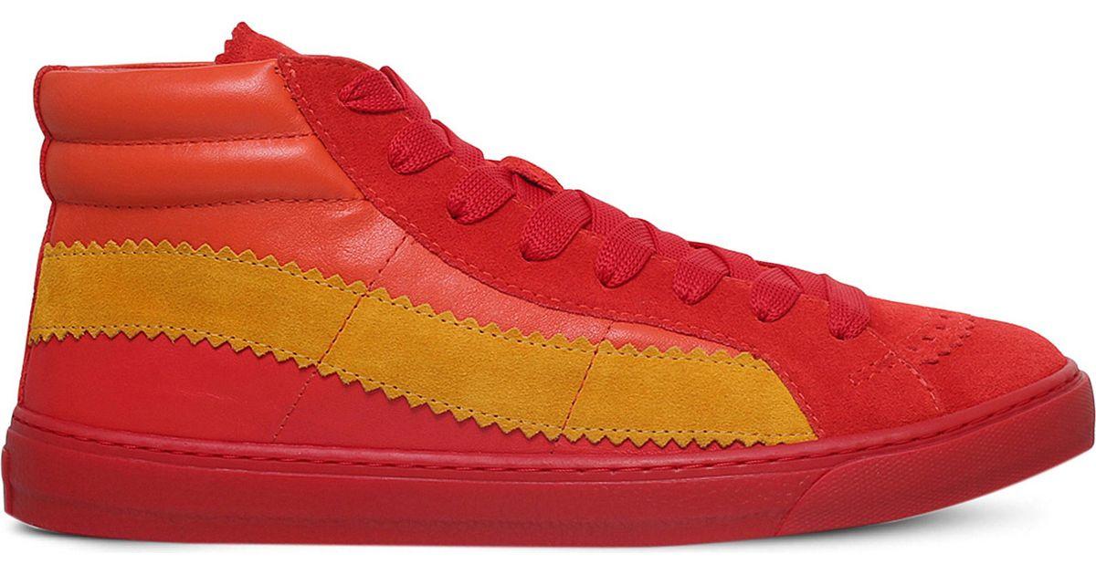 Buy Designer Shoes Paul Smith Multicolor Lynn High Top Sneakers Men