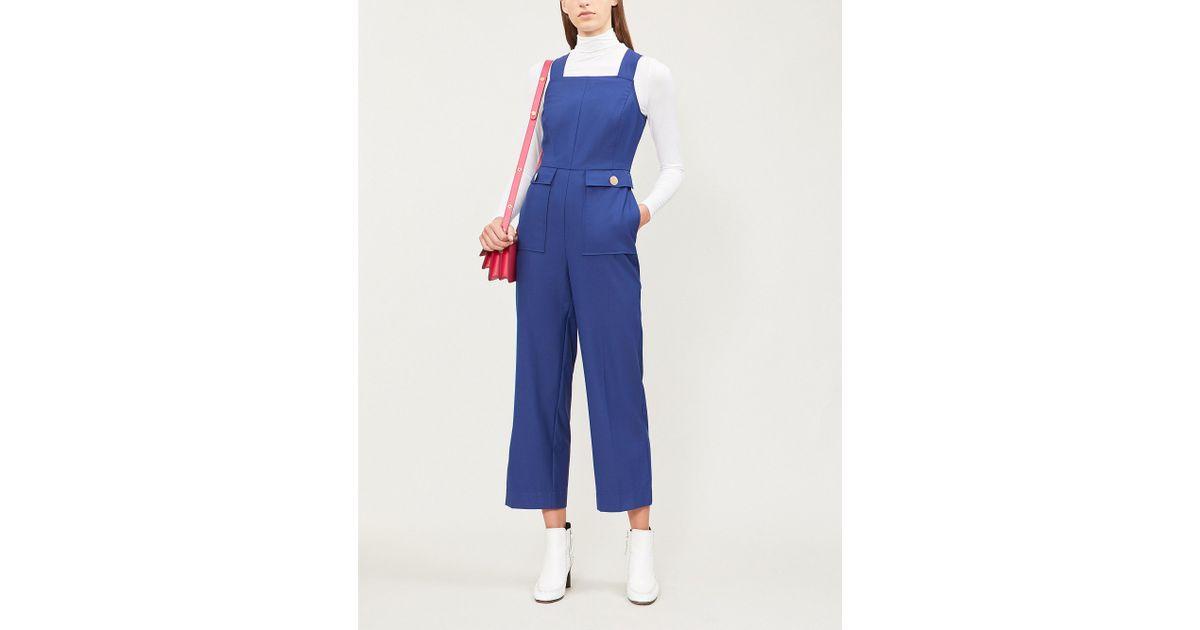 9d19abe5b9f Kitri Skye Wool-blend Jumpsuit in Blue - Lyst