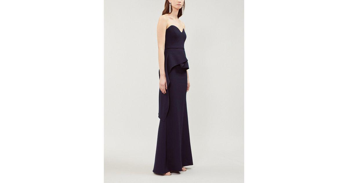 055ffc267c6b Roland Mouret Bond Peplum-detail Wool Gown in Blue - Lyst