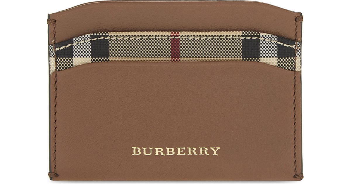 b7bdbe42d55c2 Lyst - Burberry Izzy Leather Card Holder in Green