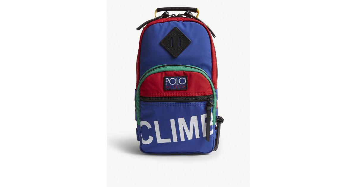 f52dfdfade Lyst - Polo Ralph Lauren Hitech Sling Crossbody Bag in Blue for Men