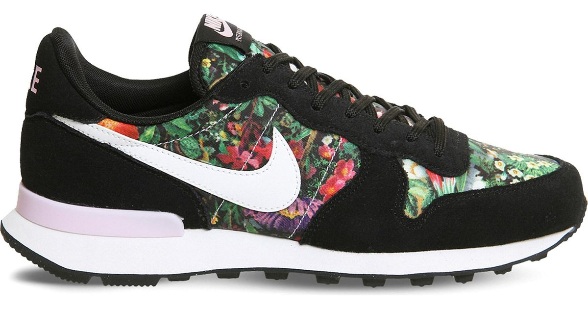 watch 2ba1d 9f7c4 Nike Internationalist Floral Trainers in Black for Men - Lyst