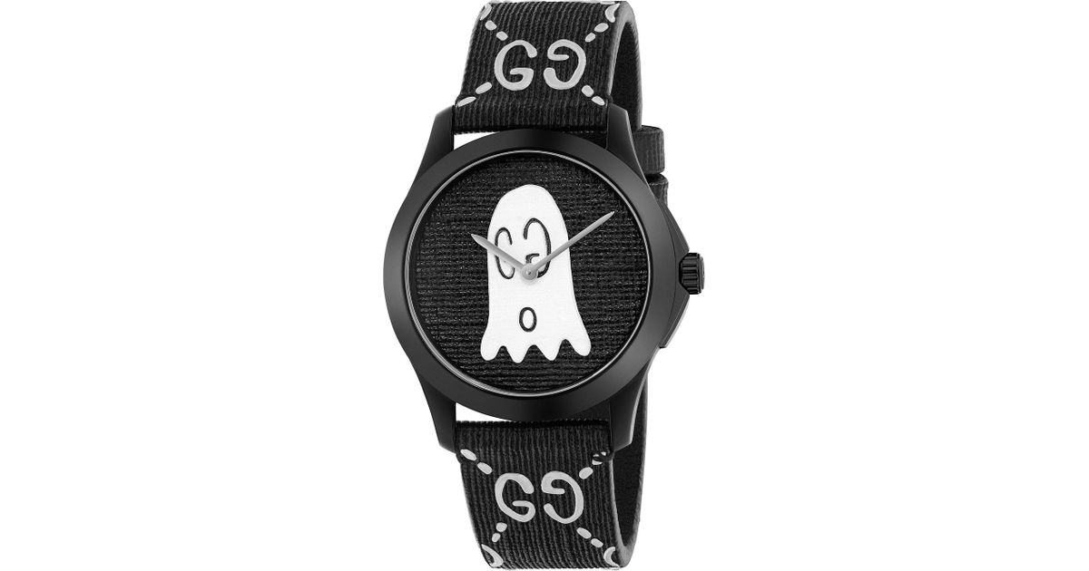 5a1fd4f080c Gucci Ya1264018 G-timeless Ghost Stainless Steel And Rubber Watch in Black  for Men - Lyst