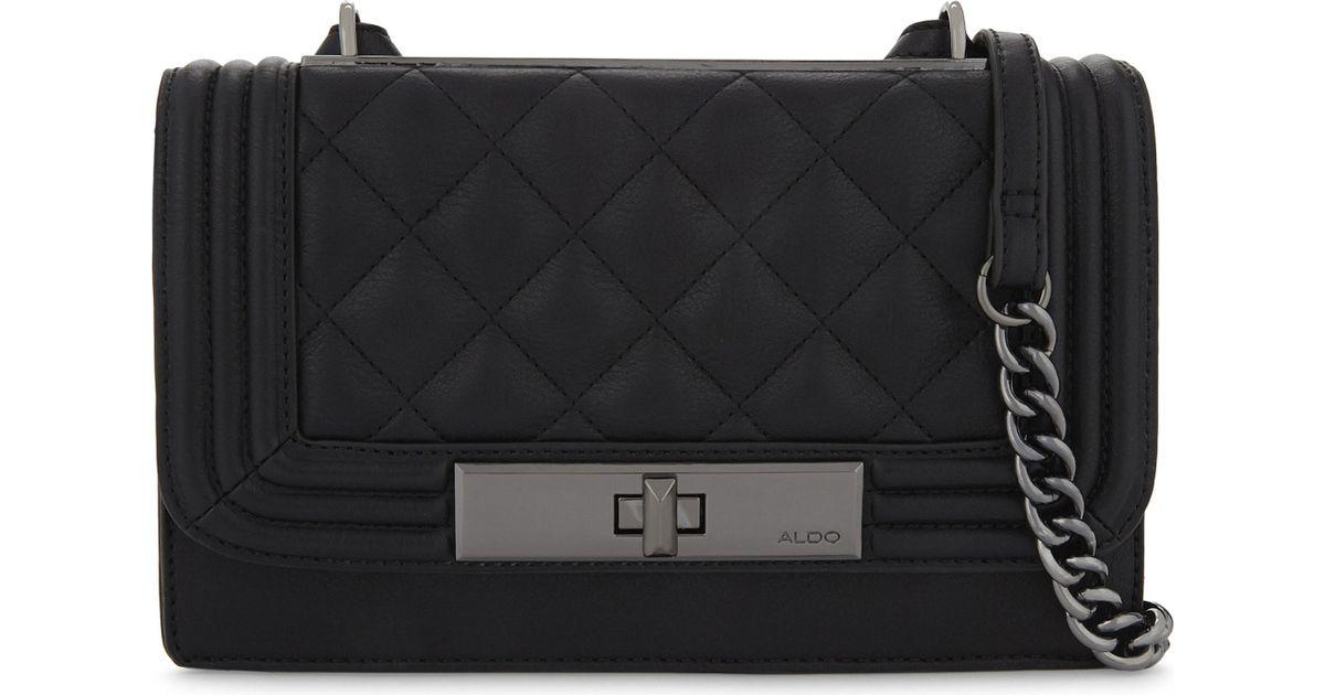 2aa11860ef7 Lyst - ALDO Derogali Faux-leather Cross-body Bag in Black