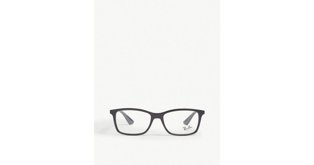 5dcef3d07d Lyst - Ray-Ban Rb7047 Square-frame Glasses in Black