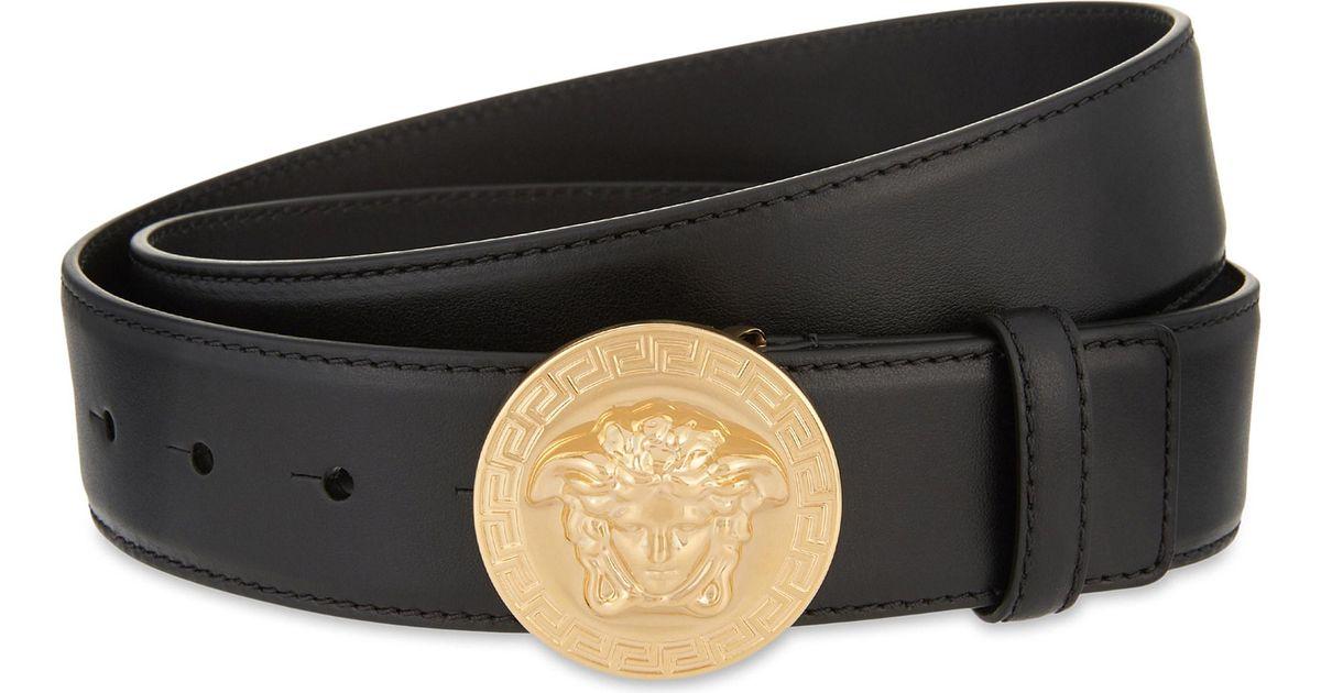8eb40d5d6d0 ... discount code for lyst versace medusa greca buckle leather belt in black  for men b7f26 0d1fb