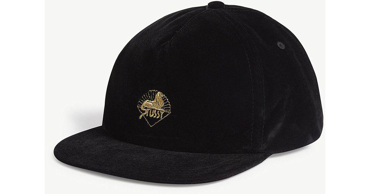 Lyst - Stussy Velvet Snapback Cap in Black for Men bf3137776b4