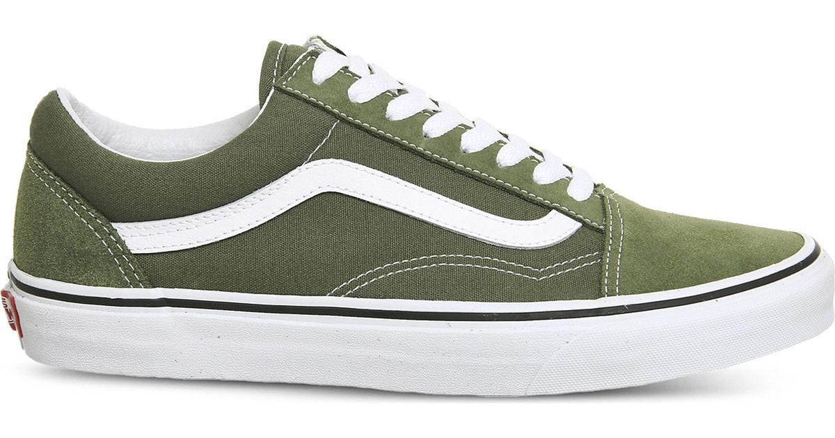 aa3659743a Lyst - Vans Old Skool Low-top Suede Trainers in Green for Men