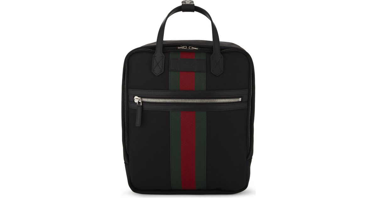 Lyst - Gucci  web  Backpack in Black for Men a4e961ffb6780