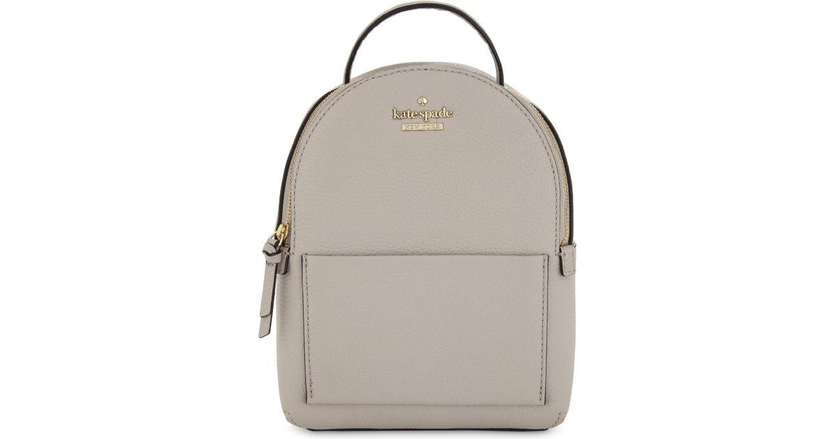lovely design 60% cheap lovely luster Kate Spade Gray Jackson Street Merry Mini Leather Backpack