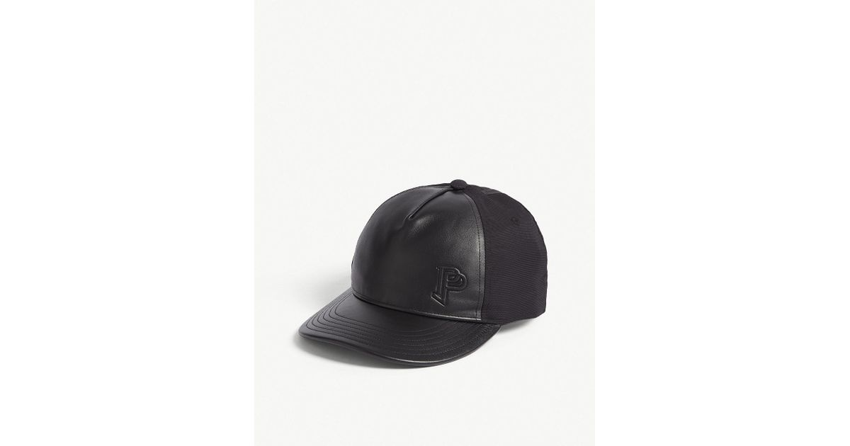 3bc5f73b6f3 Lyst - adidas Paul Pogba Quilted Leather Nylon Cap in Black for Men